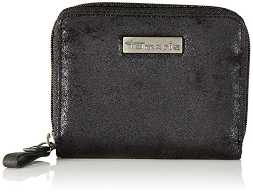 Tamaris Damen Ashley Geldbörse, Schwarz (Black Comb.), 10.0x2.5x12.5 cm