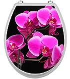 WC-Deckel-Aufkleber Motiv Orchideen