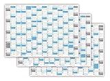 XXL Wandkalender DIN A0 2018 + 2019 + 2020 gerollt (blau2) - 3 Jahre, Wandplaner sehr groß im DIN A0 Format mit extra großen Tageskästchen (Jahreskalender werden gerollt versendet)