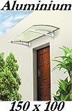 Aluminium Vordach 150 x 100 cm Türdach Türvordach Haustür Tür Dach Pultvordach