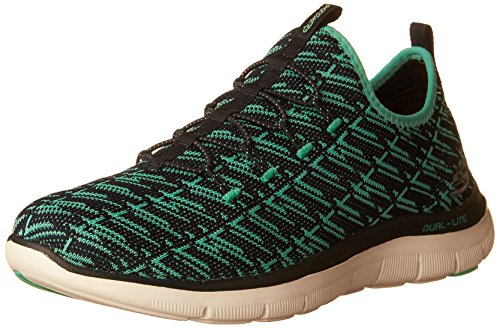 Skechers Flex Appeal 2.0-Insights, Baskets Femme Navy Green