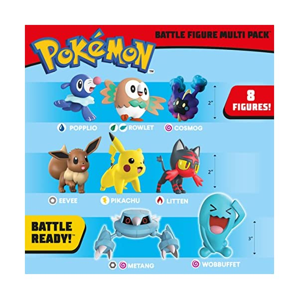 Pokemon 96302 Battle 8 Figura, Multicolor, 2/3 Pulgadas 2
