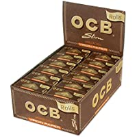 CARTINE OCB RULLO ROLLS VIRGIN BROWN 1 BOX 24 SCATOLINI