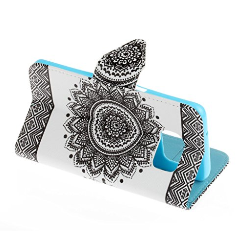 Uming® Il modello della stampa della custodia per armi variopinta della copertura Holster Cover Case ( Blue butterfly - per IPhone 5S 5 5G SE IPhone5S IPhoneSE ) Flip-artificiale in pelle con staffa s Tribal pattern sunflower