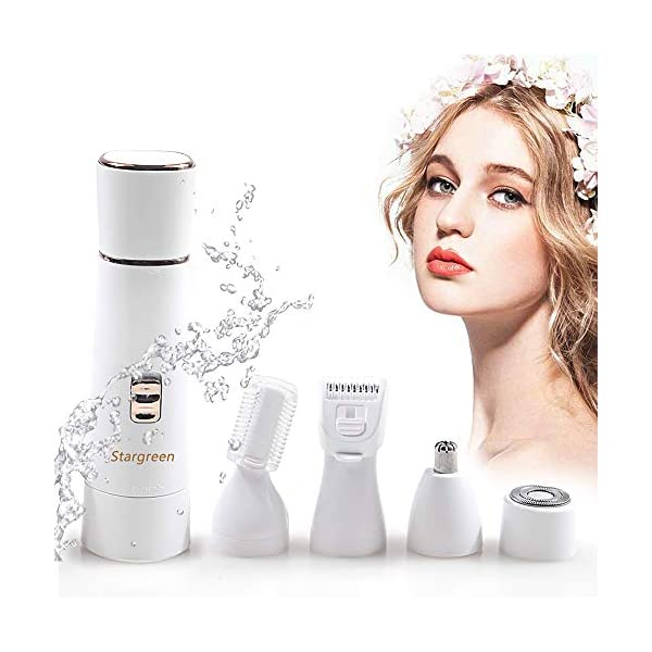 Lady Shaver 4 In 1 Rechargeable Electric Lady Razor Women Shaver Wet And Dry Cordless Waterproof Portable Painless In Shower For Arm Underarm Legs Hair Remover