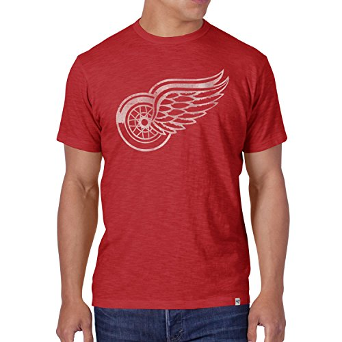 47 Brand SCRUM Slim Shirt - NHL Detroit Red Wings rot - M