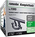 Rameder Komplettsatz, Anhängerkupplung Abnehmbar + 13pol Elektrik für Ford TOURNEO Connect/Grand TOURNEO Connect Kombi (122107-11574-1)