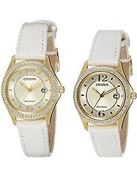 Citizen Analog Gold Dial Women's Watch - FE1142-05P