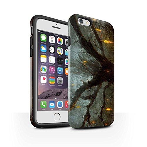 Offiziell Chris Cold Hülle / Glanz Harten Stoßfest Case für Apple iPhone 6 / Apokalypse Muster / Gefallene Erde Kollektion Baum des Wissens