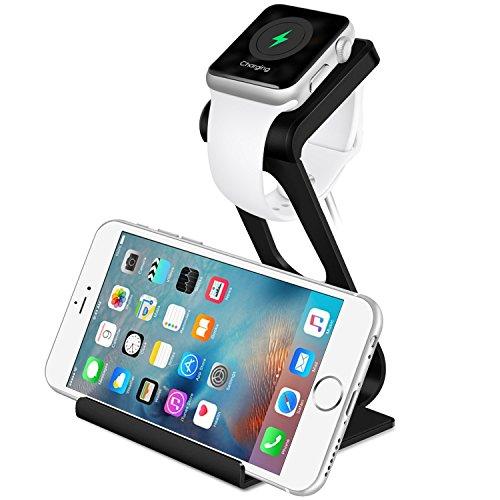 Apple Watch Stand, [2016 NEUESTE] Aerb Aluminum iPhone iWatch Dual-Stand mit IHNEN Dock Ladestation Halter Holder Cradle fš¹r Apple Watch and iPhone Galaxy Nexus and More