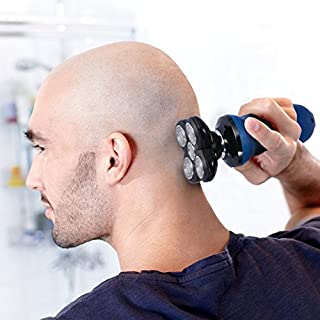 BlueFire Electric Bald Head Shaver Razor 5 Headed Flex Rechargeable Waterproof Hair Clipper Special Design for Bald Head and Face Shaving [ IMPROVE QUALITY, STRICTLY TESTING ONE BY ONE ]