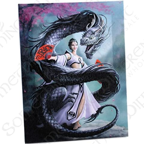 ANNE STOKES DRAGON DANCER WALL PLAQUE