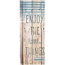 "Eurographics ""enjoy the little things"" Garderobe guardarropa de pared, marrón, 50x 125cm, tela, ""Enjoy The Little Things"" Glass Wall Cloakroom, Brown, 50 x 125 cm, 50 x 3.5 x 125 cm"