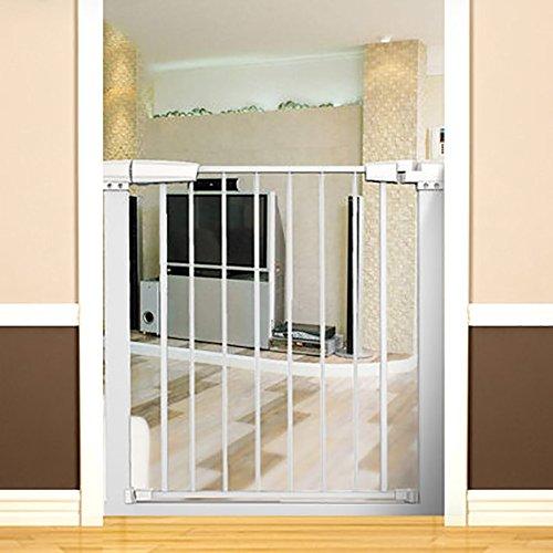 Kindersicherheitsgitter Für Treppen Laufgitter Für Baby Hund Laufgitter Baby Tor Mit Haustier Tür Hund Tore Indoor Baby Security Gate (Farbe : Weiß) -