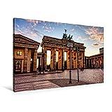 Premium Textil-Leinwand 90 cm x 60 cm quer, Pariser Platz | Wandbild, Bild auf Keilrahmen, Fertigbild auf echter Leinwand, Leinwanddruck (CALVENDO Orte)