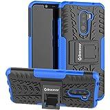 Bracevor Hybrid Back Cover Kickstand Case for Poco F1 - Blue | Rugged Defender