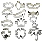 UBLISS Biscuit Cutter Shapes Set (12 pièces) - Diamonds, le Pentagone Crown, Aircraft Cookie Cutter Set