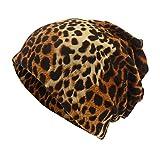 VENMO Unisex Leopard Print Schal Mütze Mütze Casual Outdoor Cabrio Windproof Hats Frauen Stricken Hüte Mütze Brötchen Hut Farbiges Spots Strickmütze
