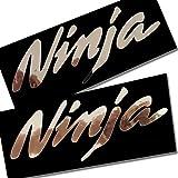 ! Kawasaki Ninja Silber Chrom Grafik Aufkleber Aufkleber ZX10R ZX6