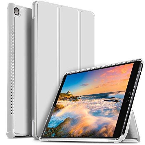 IVSO Huawei MediaPad M5 10.8 Hülle, Ultra Schlank Ständer Slim zubehör Schutzhülle perfekt geeignet für Huawei MediaPad M5 10.8 Zoll 2018 Modell Tablet PC, Weiß