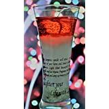 [Sponsored Products]Red Handcrafted Gel Candle In Conical Glass- Large (18cmX5 CmX 5cm)
