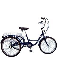 Adulto Triciclo 24pulgadas bicicleta rueda Terapia con Shimano Nexus 3de marchas