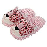 Aroma Home Shoes Fuzzy Friends Leopard, Zapatillas de Estar por Casa para Mujer, Rosa (Pink), 41 EU (7 UK)