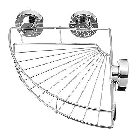 Duschkorb Vacuum-Loc Eckablage - Befestigen ohne bohren Edelstahl Bad Regal Dusche Caddy Rack Aufbewahrungskorb mit Saug-Verriegelung