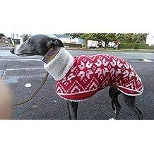 """Whippet elegante forro polar abrigo de piel + 18""""-20long (de abajo el cuello hasta BEGINING la cola)"""