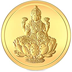 BlueStone BIS hallmarked 2 gm, 24k Yellow Gold Lakshmi Precious Coin