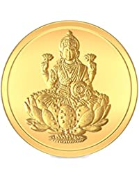BlueStone BIS hallmarked 1 gm, 24k Yellow Gold Lakshmi Precious Coin