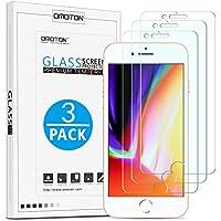 OMOTON [3 Stück] Panzerglas Schutzfolie für iPhone 7 iPhone 8, 9H Härte, Anti-Kratzen, Anti-Öl, Anti-Bläschen