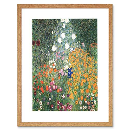 Wee Blue Coo Klimt Flower Garden 1907 Old Master Painting