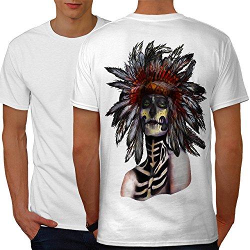 indisch Zucker Tod Schädel Kämpfer Männer M Ringer T-Shirt | Wellcoda (Kämpfer-t-shirt Liebe)