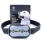 Hunde trainingshalsband für kleine und mittelgroße Hunde mit Vibration. Kontrolle von übermäßigem Bellen mit diesem einfachen Antibell Halsband. Sicher und human ohne Schock (GoodBoy, Grau)