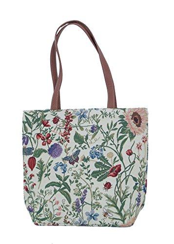 Shopper sac à bandoulière beacht cendres Sacoche Loisirs Sac Femme clair Fleur Taille M Tapisserie Signare FA. bowatex