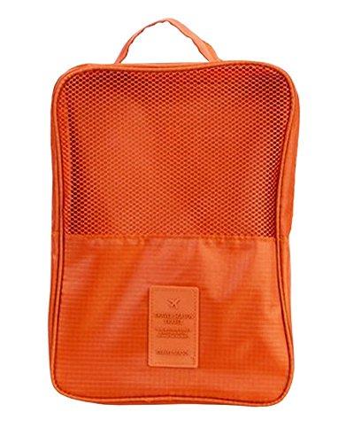 Damara® Unisex Einfarbig Schuhaufbewahrung Aufbewahrungstasche,Weinrot Orange