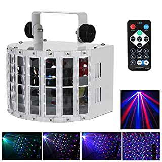 Lixada 24W RGBW DJ Projektor 6 Kanal DMX 512 100-240V