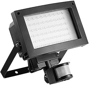 Luminea Außenstrahler 60x 0,06-W-LEDs, PIR-Sensor, Spritzwasserschutz