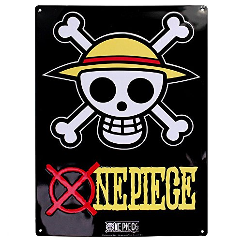 """ABYstyle - ONE PIECE - Plaque métal """"Skull - Luffy"""" (28x38)"""
