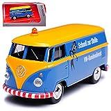 Schuco Volkwagen T1 Kundendienst Blau Gelb Samba Bully Bus Transporter 1950-1967 1/64 Modell Auto