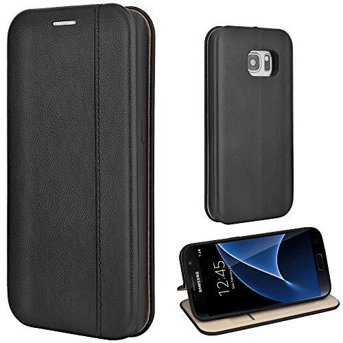 Leaum Samsung Galaxy S7 Hülle Handyhülle Leder Tasche Flip Case für Samsung Galaxy S7 S