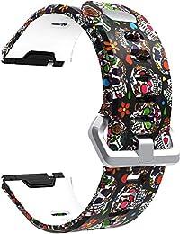 NeatCase Correa de Reloj Compatible con Fitbit Ionic, Silicona Banda de Reemplazo Pulsera (Calavera De Color)