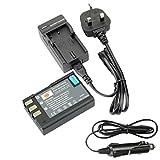 DSTE® EN-EL9 Rechargeable Li-ion Battery + DC15U Travel and Car Charger Adapter for Nikon D40 D40x D60 D3000 D5000 Digital Camera as Nikon ENEL9 EN-EL9A