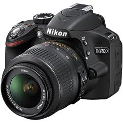 Nikon D3200 Appareil photo numérique Reflex 24.2 Kit Objectif AF-S DX 18-55 mm Noir