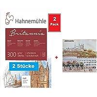 Clairefontaine 96633C Zeichenblock 30 Blatt, 180 g, 14,8 x 21 cm, ideal f/ür Kunstunterricht, Doppelspiralbindung wei/ß
