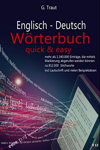 Kindle-wörterbuch Englisch-deutsch (Englisch-Deutsch Wörterbuch: Quick and Easy)