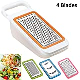 HOMIZE Vegetable Chopper Slicer Dicer Cutter & Grater, Multi-Functional Fruit Vegetable Grater Set And 4 Pieces Blades