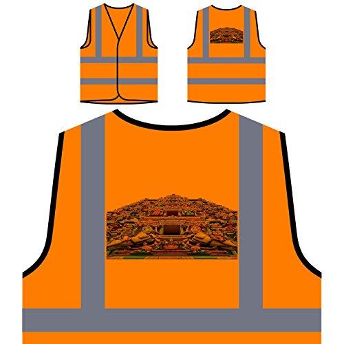 Schöne Indien Urlaub Reisen Die Welt Personalisierte High Visibility Orange Sicherheitsjacke Weste b357vo