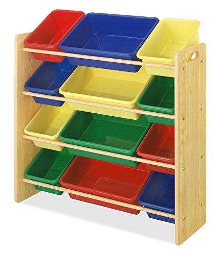 Whitmor 12 Bin Organizer, primär, Plastik, 31.12 x 86.04 x 89.53 cm - Primäre Behälter
